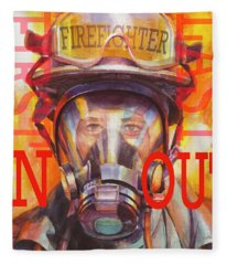 Firefighter Fleece Blanket