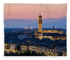 Firenze At Sunset Fleece Blanket