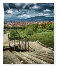 Firenze From The Boboli Gardens Fleece Blanket