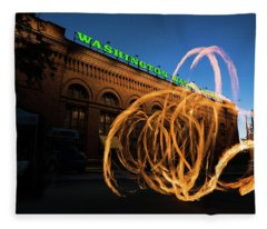 Firespinner Spokane Wa Fleece Blanket
