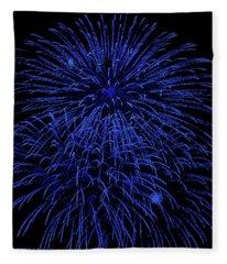 Firework Blues Fleece Blanket