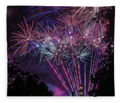 Fireworks 2 Fleece Blanket