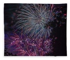 Fireworks 4 Fleece Blanket
