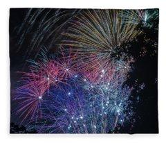 Fireworks 5 Fleece Blanket