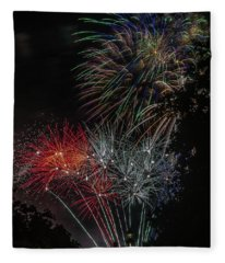 Fireworks 6 Fleece Blanket