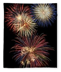 Fireworks Fleece Blanket