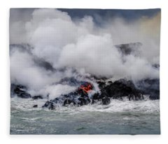 Firey Island Growth Fleece Blanket