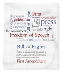 First Amendment Freedom Of Speech Fleece Blanket