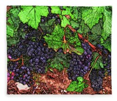 First Came The Grape Fleece Blanket