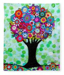 First Day Of Spring Fleece Blanket