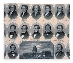 First Hundred Years Of American Presidents Fleece Blanket