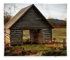 First Light At The Barn Fleece Blanket