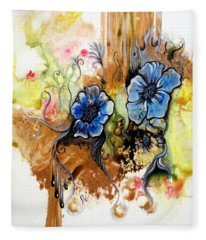 First Light In The Garden Of Eden II Fleece Blanket