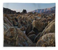 First Light Over Alabama Hills California Fleece Blanket