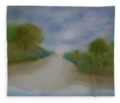First Light Upon The Dunes Fleece Blanket