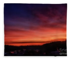First Morning Light Over Charleston Fleece Blanket