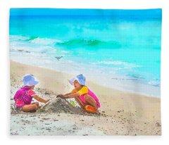 First Sand Castle Fleece Blanket