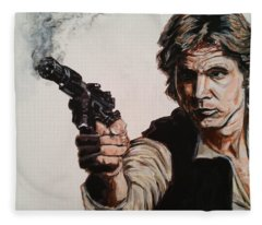 First Shot - Han Solo Fleece Blanket