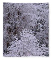 First Snow I Fleece Blanket