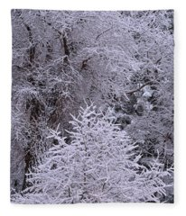 First Snow I Fleece Blanket