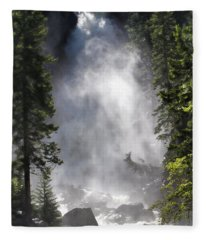 Fish Creek Falls Fleece Blanket