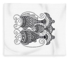 Fish Family Fleece Blanket
