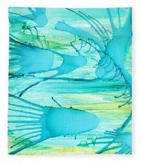 Fish N Shrimp Fleece Blanket