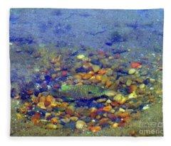 Fish Spawning Fleece Blanket