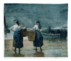 Fisher Girls By The Sea Fleece Blanket
