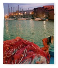Fisherman's Net Fleece Blanket