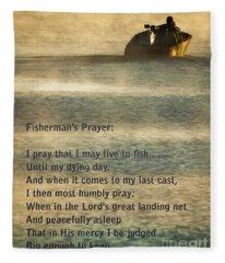 Fisherman's Prayer Fleece Blanket