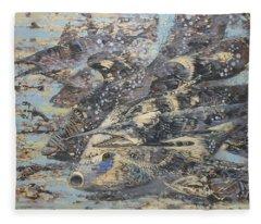 Fishes. Monotype Fleece Blanket