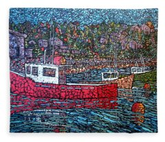 Fishing Boats - Beaver Harbour Fleece Blanket