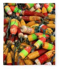Fishing Buoys Fleece Blanket