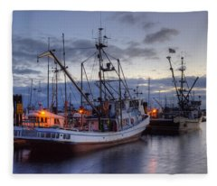 Fishing Fleet Fleece Blanket