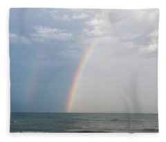 Fishing For A Pot Of Gold Fleece Blanket
