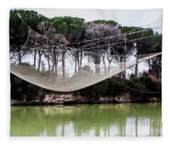Fishing Net Fleece Blanket