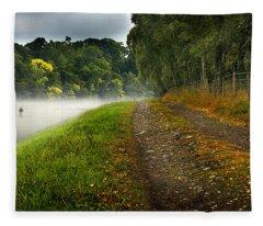 Fishing The River Beauly Fleece Blanket