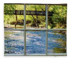 Fishing Window Fleece Blanket