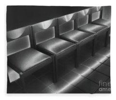 Five Empty Chairs Fleece Blanket