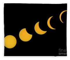 Five Phases Of The Eclipse Fleece Blanket