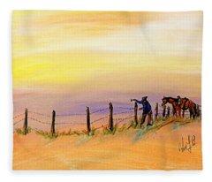 Fix On The Prairie Fleece Blanket