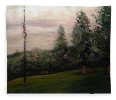 Flag Pole At Harborview Park Fleece Blanket