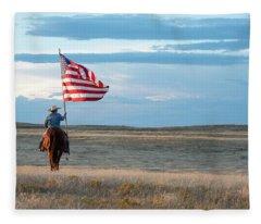 Flag Of Freedom Fleece Blanket