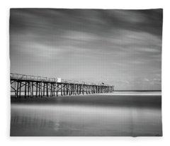 Flagler Beach Pier Fleece Blanket