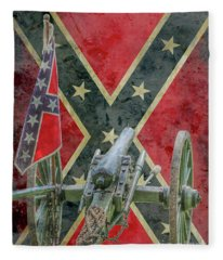 Flags Of The Confederacy Ver Two Fleece Blanket