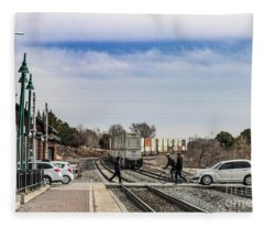 Flagstaff Az Grade Crossing Fleece Blanket