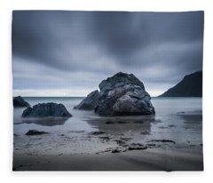 Flakstad Beach Fleece Blanket