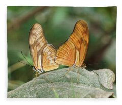 Fleece Blanket featuring the photograph Flambeau Butterfly - 2 by Paul Gulliver