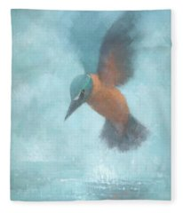 Flame In The Mist Fleece Blanket
